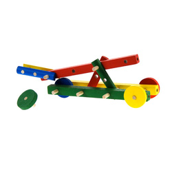 Catapulte en bois coloré à monter