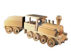 Locomotive à vapeur en bois