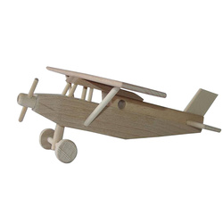 Avion Pilatus en bois naturel