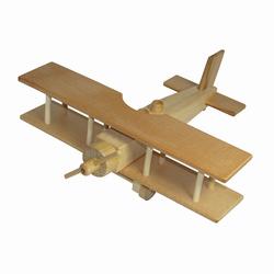 Avion biplan de l'aéropostale en bois