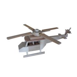 Hélicoptère en bois naturel