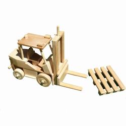 Chariot élévateur en bois naturel