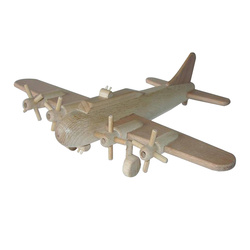 Avion bombardier B 17 en bois naturel