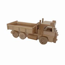 Camion benne de chantier en bois massif