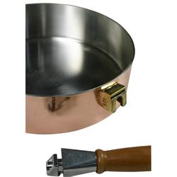 Sauteuse en cuivre inox