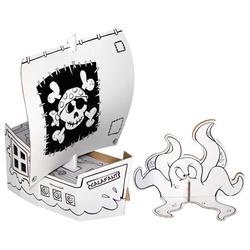 Bateau pirates en carton