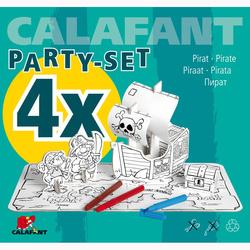 Pirates et bateau en carton