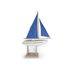 Voilier navigable bois blanc 30cm Tirot
