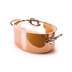 Cocotte ovale en cuivre