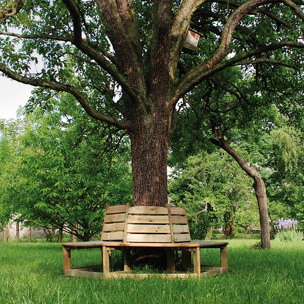 article banc tour d 39 arbre en bois orlando. Black Bedroom Furniture Sets. Home Design Ideas