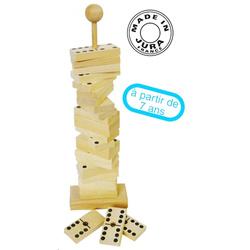 Jeu de dominos en bois sur tige
