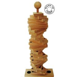 Jeu de dominos en bois sur tige géant