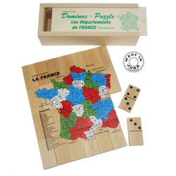 Jeu de dominos + puzzle carte de France