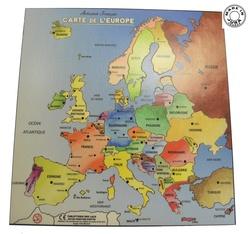 Puzzle en bois carte de l'Europe