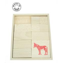 Jeu de l'âne rouge en bois