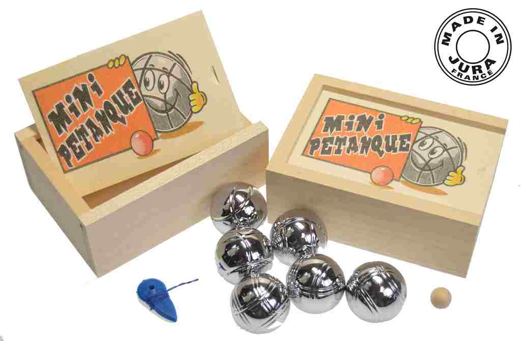 article jeu de 6 mini boules de p tanque. Black Bedroom Furniture Sets. Home Design Ideas