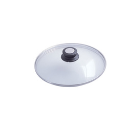 Couvercle en verre bouton bakélite/inox