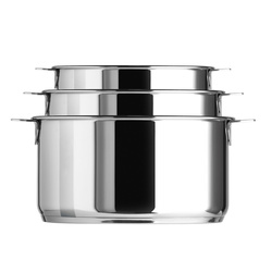 Lot de 3 casseroles Casteline - Diam. 16 - 18 - 20 cm -