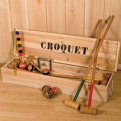 Jeu de croquet en bois 8 joueurs