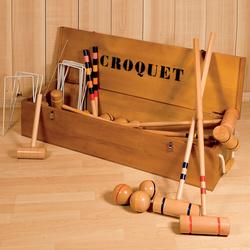 Jeu de croquet en bois cottage 8 joueurs