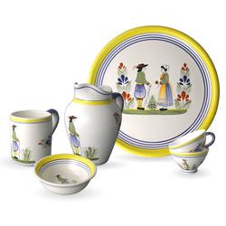 Vaisselle bretonne en faïence Henriot