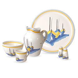 Vaisselle bretonne en faïence Escale