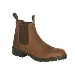 Boots cuir à semelles crantées, Homme