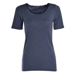 T-shirt manches courtes, col rond, Femme