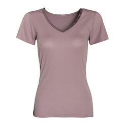 T-shirt manches courtes, col V, Femme