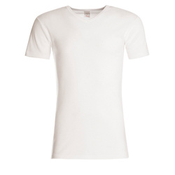 T-shirt manches courtes, col V, Homme