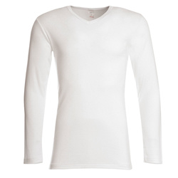 T-shirt manches longues, col V, Homme