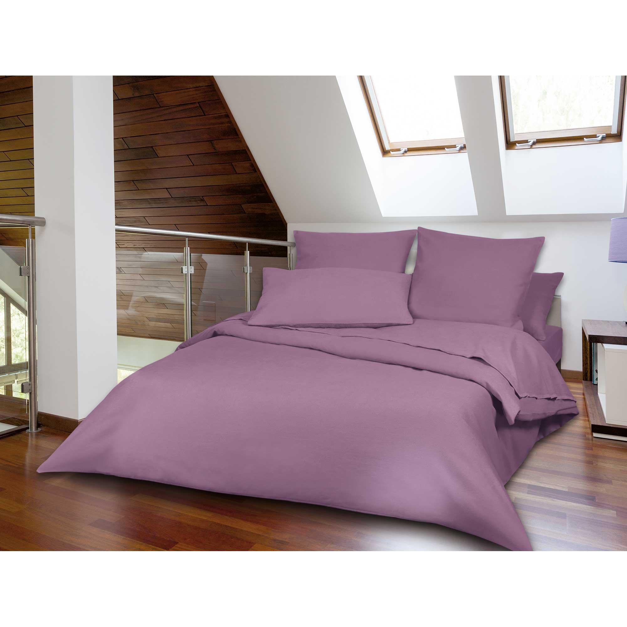 article linge de lit en flanelle de coton. Black Bedroom Furniture Sets. Home Design Ideas