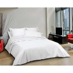 Linge de lit - toile coton blanc