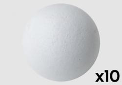 Lot de 10 balles - liège teinté blanc