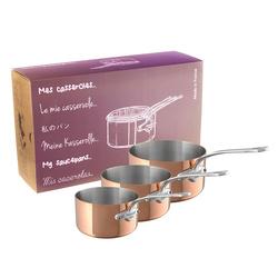 Lot de 3 casseroles M'150S