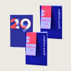 agenda et 2 carnets R02 - pages rayées