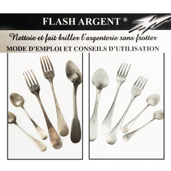 Flash Argent ®, nettoyer l'argenterie