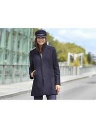 Manteau court laine femme -