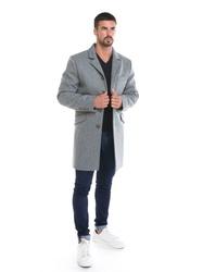 Manteau homme en laine -