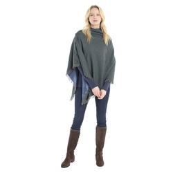 Poncho en tweed 100% laine imperméabilisée