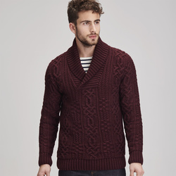 Pull homme - col châle -